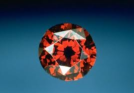 The de Young 5.03ct red diamond currently on display at the Smithsonian.