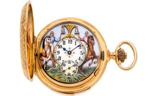 Rare pocket watch featured at recent Heritage auction. Which sold for more than $15k